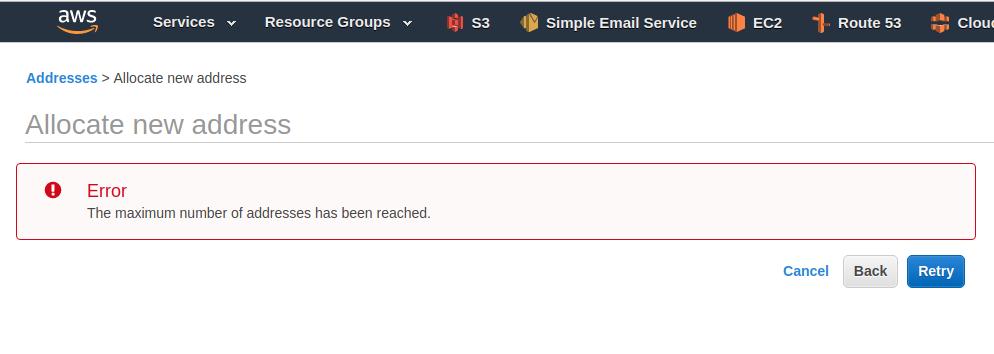 Amazon Elastic IP Limit