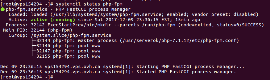 systemctl status php-fpm