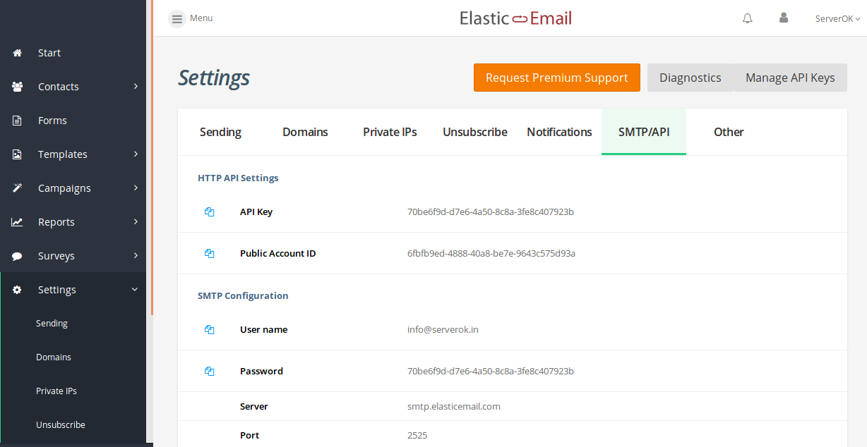 elasticemail postfix