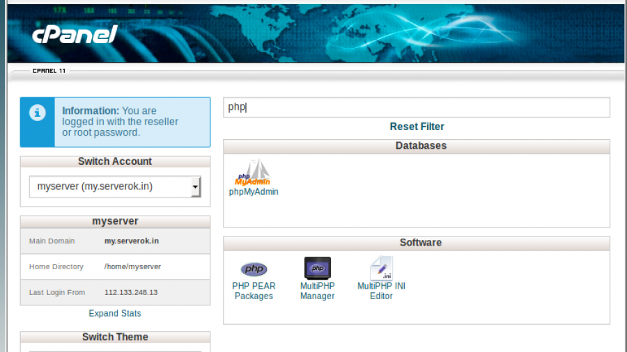 cpanel-php