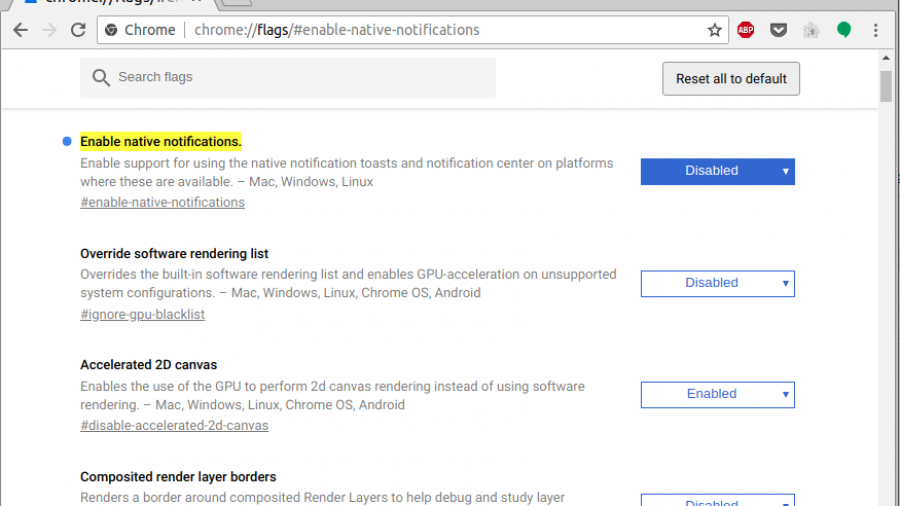 Google Chrome Native Notification