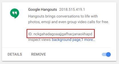 Google Hangout Plugin id