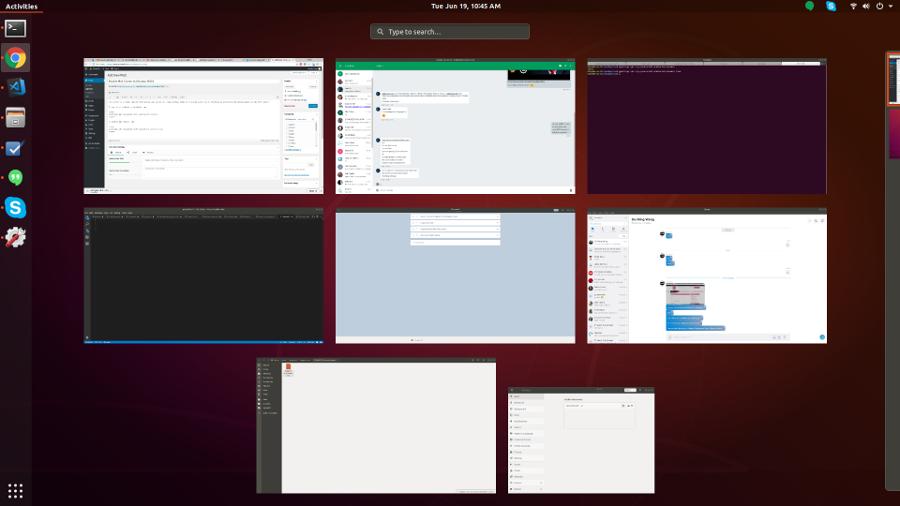 Ubuntu 18.04 hot corner