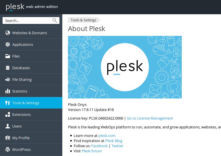 Plesk License Number