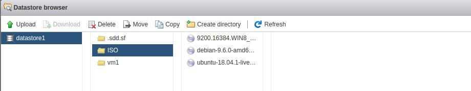vmware esxi datastore browser