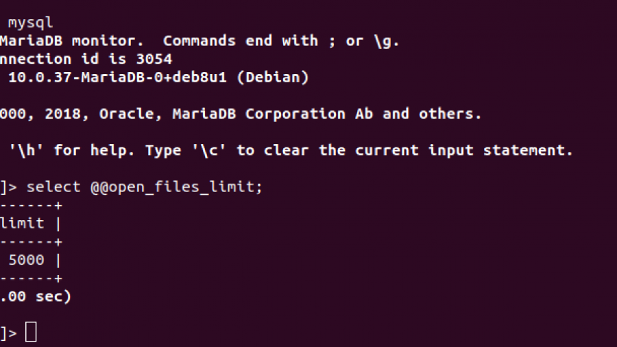 MySQL open_files_limit