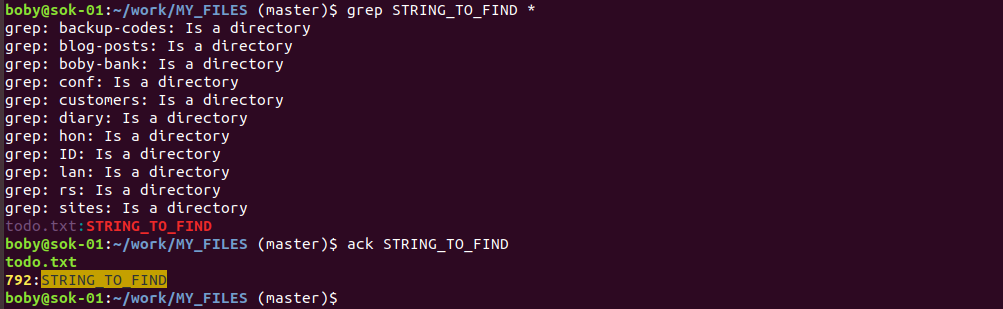 ack grep for programmers