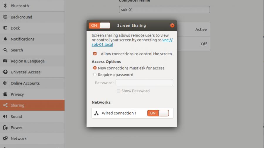 Ubuntu 18.04 desktop sharing