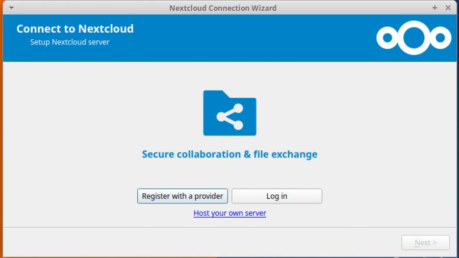 NextCloud ubuntu client