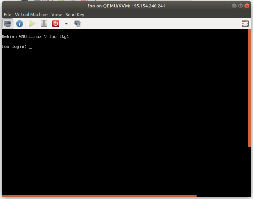 virt-manager console