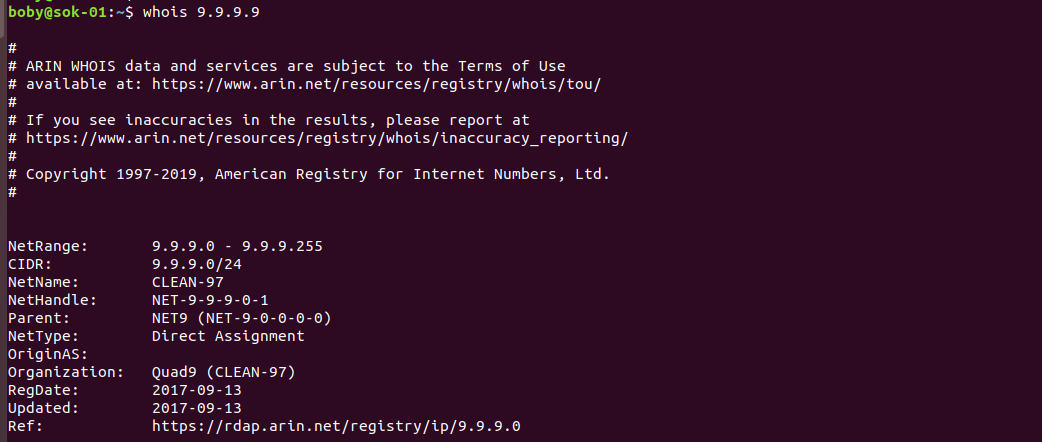 whois ip address