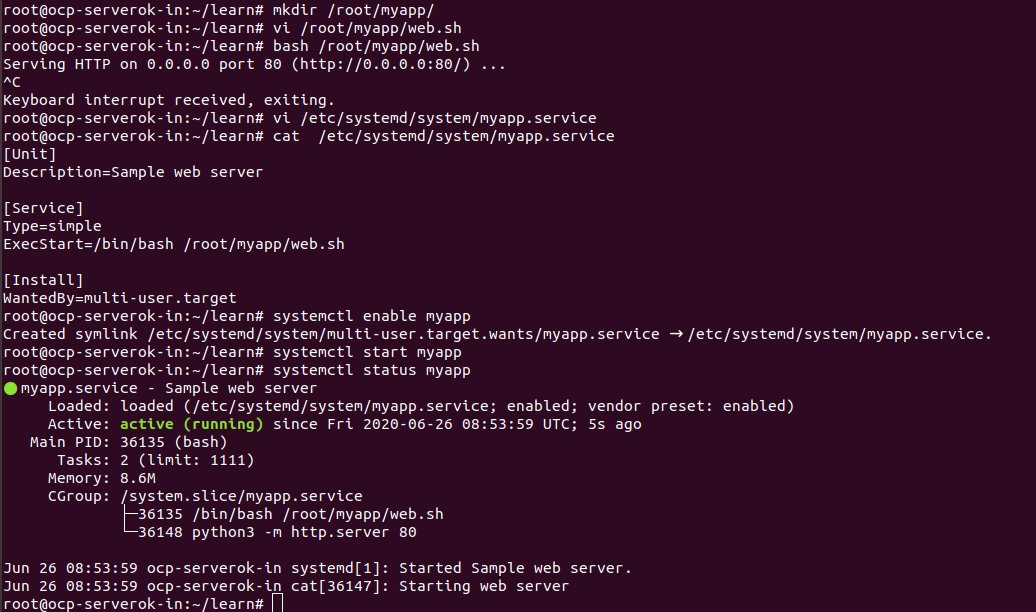 systemd service file