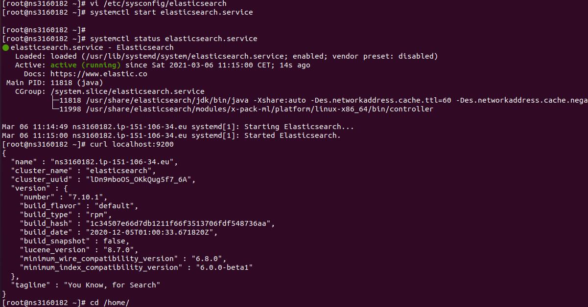 elasticsearch CentOS 7 error