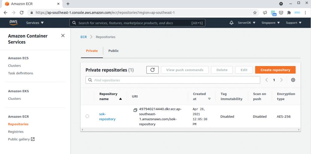 amazon docker registry (ECR)
