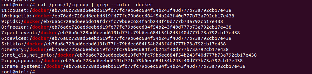 identify docker container