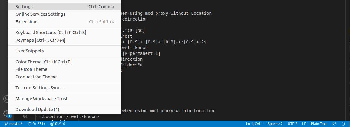Visual Code Studio Settings